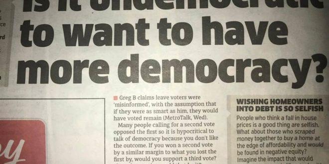 """ئەوە نا دیموکراسیانەیە کە دموکراسی زیاترت بوێ؟ """